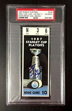 WAYNE GRETZKY SIGNED 1987 STANLEY CUP GAME 2 TICKET STUB EDMONTON OILERS PSA
