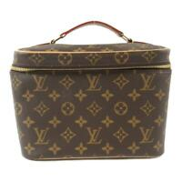Authentic LOUIS VUITTON Nice BB vanity bag M42265 Monogram Brown Used LV