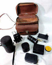Vintage & Experienced Mixed Lot of 35mm Camera Lenses+Accessories (K2)  NIce Bag