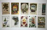 LOT OF 20 MERRY CHRISTMAS GREETINGS ANTIQUE  POSTCARDS