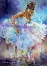 """NEW ORIGINAL SERA KNIGHT S.W.A """"A Moment Alone"""" Ballet Dance Pantomime  PAINTING"""