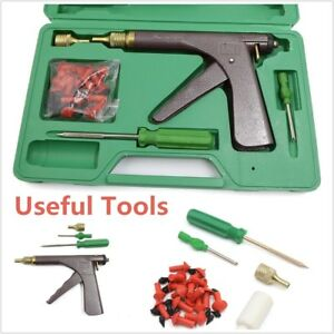 Tire Plugger Tubeless Tire Wheel Repair Gun Kit With Plugs Rubber Plugging New
