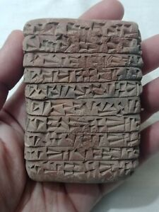 RARE ANCIENT NEAR EASTERN CLAY TABLET WITH EARLY FORM OF WRITING C. 3000-2000B.C