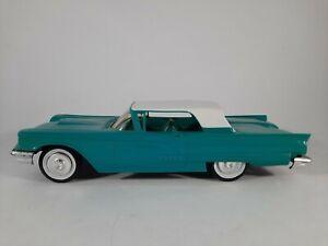 Vtg Promo 1958 Ford Thunderbird 2 Tone White Turquoise Blue Plastic Car