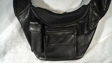 Lodis 9010NX Black Napa Leather Utility Bag