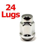 """24x Excalibur 1955 Lug Nuts 1/2"""" Bulge Acorn 3/4"""" Hex Chrome LH"""