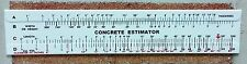 Concrete Slide Ruler Lot of 3 pieces 200 Yard Volume Calculator USA Made.