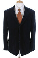 J Crew Mens Curdroy Long Sleeve Notch Collar Blazer Navy Blue Size 44R