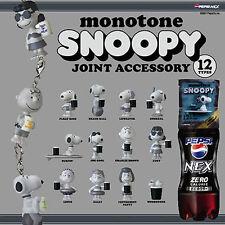 Monotone Snoopy Pepsi NEX JOINT ACCESSORY 12 types Complete Set FIGURE F/S JAPAN