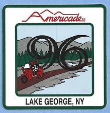 "Americade 1996 Lake George NY Square Decal Sticker 3"" x 3"""
