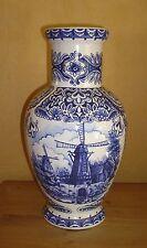 T. Delfts Blueau 1 Bodenvase mit Mühlen