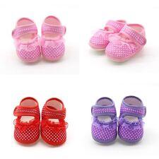 Infant Newborn Baby Girl Crib Shoes Princess Pram Soft First Shoe 0-3-6-9 Months
