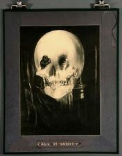 "ALL IS VANITY 16x20"" Poster Optical Illusion Skull & Mirror Surrealism Art Print"