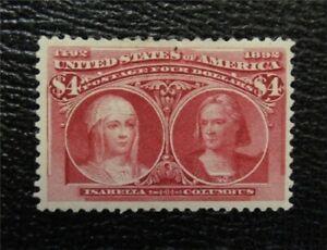 nystamps US Stamp # 244 Mint OG H $2000   M7x332