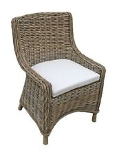 SIERRA CHAIR CANE CHAIR / ARMCHAIR WITH CREAM CUSHION