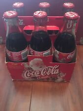 1999 Coca-Cola Christmas Edition 6-Pack 8 Oz. Coke Bottles Santa with Carrier