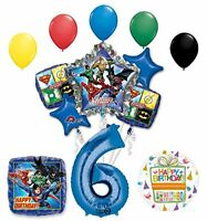 The Ultimate Justice League Superhero 6th Birthday Party Supplies