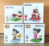 Mini Building Blocks Brick Astro Boy Girl Crayon Shin Chan BB8 LOZ Wise Hawk Lot