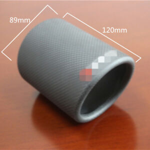 "3.5"" Carbon Fiber Car Exhaust Tip Cover Muffler Pipe Decoration Case Matte Black"