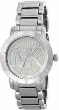 NWT Michael Kors MK3375 Runway Crystal Pave Silver Tone Ladies Fashion Watch