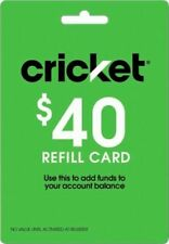 Cricket Wireless $40 Prepaid Airtime Refill Card-load Directly (Text Delivery)