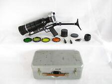KMZ Photosniper mit Zenit-ES SLR + Tair3-PhS 4,5/300 + Helios-44-2 2/58 in Kiste