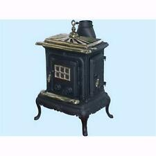 Stoves Parlor Small Wood Cast Iron Black 6kw 70kg 57x51xh87 Cm