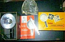 Vintage Kodak Standard Flash Holder Lumaclad Reflector Cover Bracket Instruction
