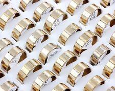 Wholesale 10pcs Stainless Steel Band English Cross Christian Prayer Gold Rings