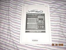FOSTEX VF160 RECORDER original factory owner's manuals...