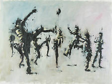 Yossef-Shai-large-oil-painting-wall-art-decoration-kids-playing-football-soccer