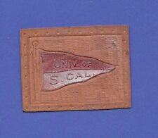 c1910s L21 tobacco / cigarette leather University Of Southern Cal pennant #1