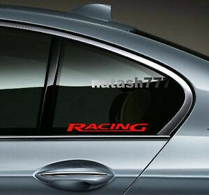 RACING WINDOW Decal Sticker Performance Sport Car Auto Truck Emblem Logo 2-pcs