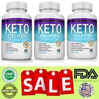 Keto Diet Pills Bundle Advanced Ketosis Weight Loss Ketogenic & Carb Blocker
