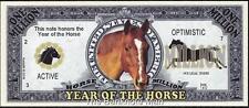 Million Note - Fantasy Money - Chinese Zodiac - Year of the Horse