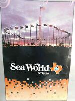 1988 24X 38 SEAWORLD OF TEXAS SHAMU SAN ANTONIO POSTER GRAND OPENING