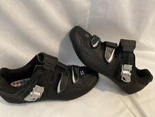 Serfas Road Cycling Bike Shoes Black Size 38 US7 No Cleats - EUC