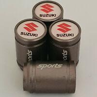 SUZUKI Valve Dust caps all Cars swift alto vitara sj jimmy GT Gun Metal grey 7