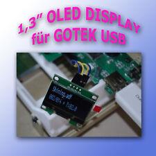"""1,3"""" 128x64 OLED DISPLAY HARDWARE MOD für GOTEK USB Laufwerke - Einbaukit"""
