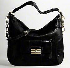 Coach 16014 Kristin Crinkle Patent Leather Large Hobo Satchel Shoulder Bag