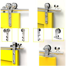 4-16FT Stainless Steel Sliding Barn Door Hardware Closet Track Kit Single/Double