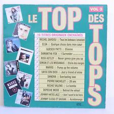 """33T LE TOP DES TOPS Vol. 3 Vinyle LP 12"""" SARDOU ELSA PATTI MARRS BACHELET SANDRA"""