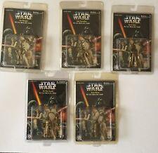STAR WARS 5 Die Cast Metal Key Chains Darth Vader,Artoo-Detoo,Luke,Obi-Wan,C-3PO