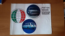 FIAT 124 SEDAN STATION WAGON CATALOGO DEPLIANT BROCHURE USA NOS