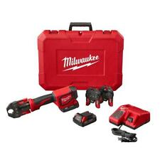 Milwaukee Press Tool Kit 3-PEX Crimp Jaws 18-Volt Lithium-Ion Batteries Charger