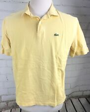 LACOSTE Polo Shirt Short Sleeve Men's Size 6 / XL Cotton Stretch Knit Yellow