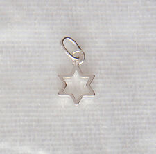 Sterling Silver Open Star Charm Small 7mm 925