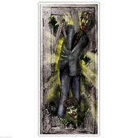 ZOMBIE DOOR COVER Halloween Party Decorations Door Walking Dead Scene Setter