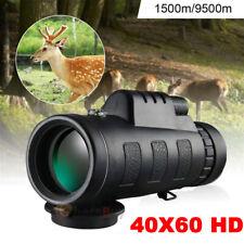 40xDay/Night Vision Hd Optical Monocular Hunting Camping Hiking Telescope Travel