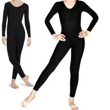 Long sleeve Girls Catsuit ballet Shiny Dance Gymnastics unitard leotard (CC)